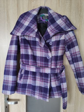 Płaszcz fioletowy, ciepły STAN SUPER