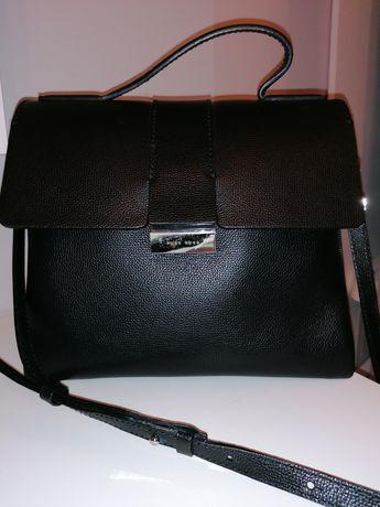 Piękna,oryginalna,skórzana torebka Hugo Boss,Model Taylor Top Handle!