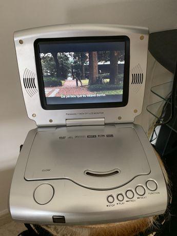 Leitor de DVD Portátil com controlo remoto