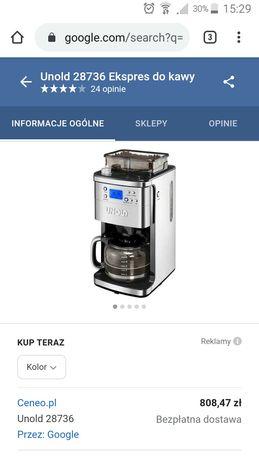 Obniżka! Półautomatyczny ekspres przelewowy do kawy UNOLD 28736