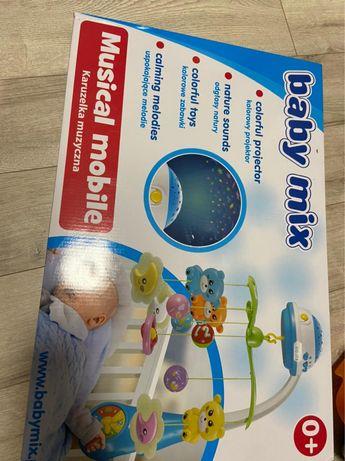 Мобиль каруселька на детскую кроватку