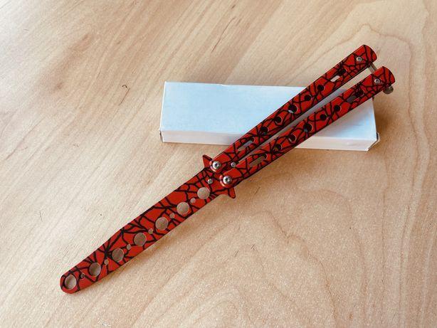 Нож бабочка для трюков / тренировочный / балисонг /раскладной №26