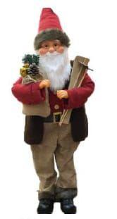Mikołaj świąteczny grajacy tańczy - ozdoba bożonarodzeniowa : 90 cm