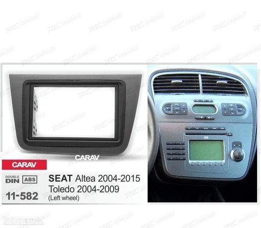 MOLDURA / ADAPTADOR CINZA PARA RADIO 2-DIN SEAT ALTEA TOLEDO