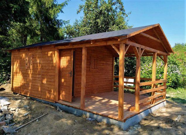 Duży Domek letniskowy 4x7 Ogród Drewmaro dom na wypoczynek drewniany