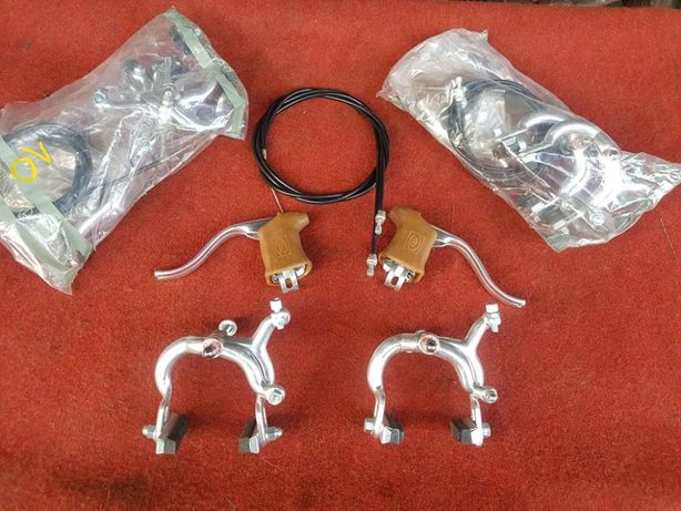 Kit completo manetes pinças cabos espia bicicleta ciclismo