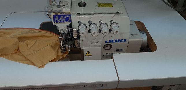 overlock JUKI MO6816S 5-nitkowy szwalnicza maszyna do szycia