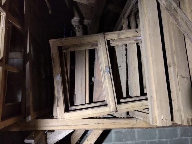 Okna drewniane, nieoszklone