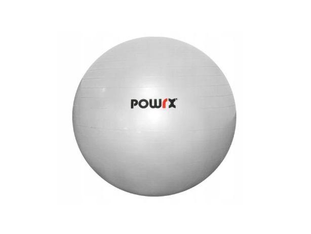 Piłka gimnastyczna z pompką nożną POWRX 65 cm