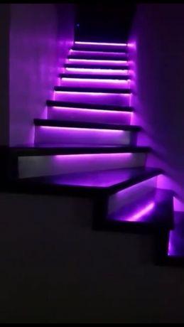 НОВИНКА! Автоматическая подсветка лестницы RGB - WS2811