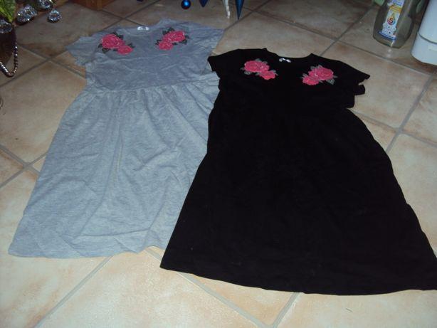 Sukienki jak nowe szara czarna 164 xs/s dwie 25 zł