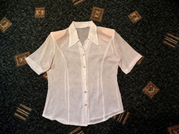 Белая женская блузка блуза кофточка рубашка, р.48