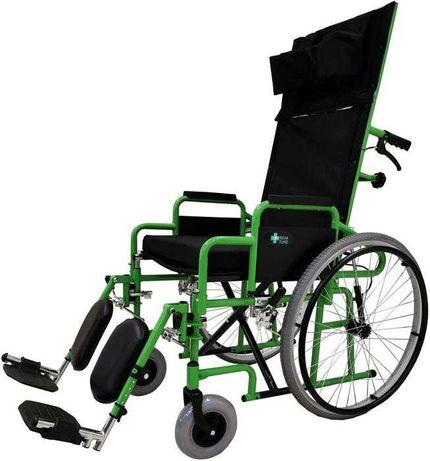 Wózek inwalidzki z wyprostem nogi dla pacjęta - Dowóz Warszawa