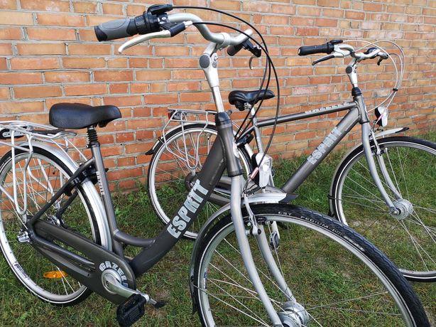 Rower damski, męski holenderski Gazelle Esprit ALU - ŁADNA PARA