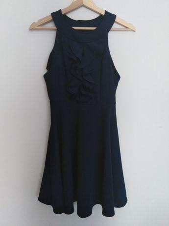 Granatowa sukienka S