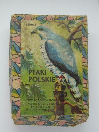 Klocki Ptaki Polski z PRLu Twórczość Nowy Sącz 1971