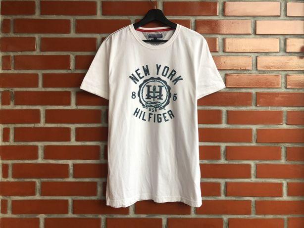 Tommy Hilfiger мужская белая футболка размер L  Томми Хилфигер Б У