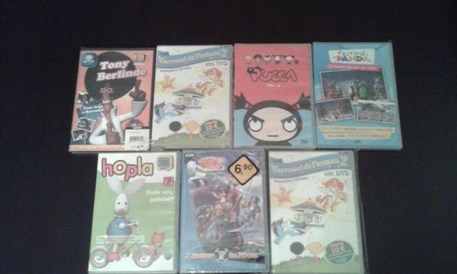 DVDs Infantis novos 7 unidades