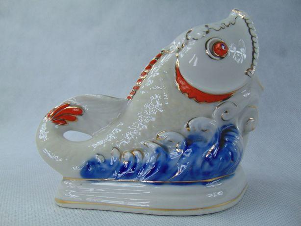 Rybka porcelanowa rosja ryba sygn