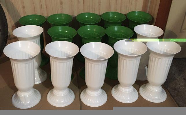 Вазон для цветов на срез, пластиковая ваза для срезанных тюльпанов...