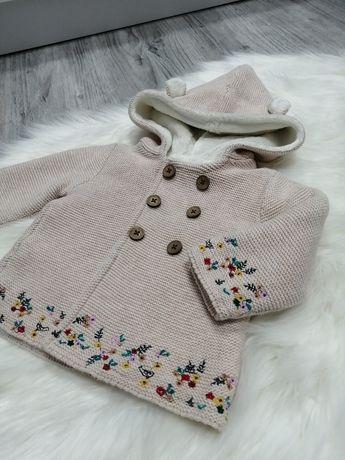 Piękny gruby sweterek Tu r. 56-62