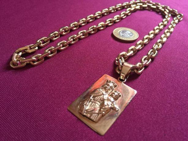 Złoto 112g łańcuch 100g medalik 12g 14k 585p