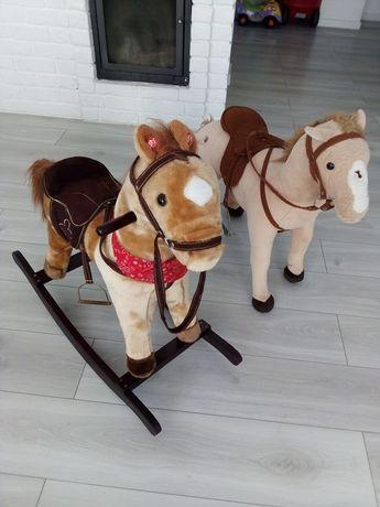Zestaw dwóch koni. Wydają dźwięki. Koń na biegunach