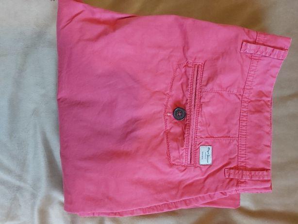 Spodnie męskie malinowe Pepe Jeans