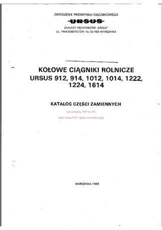 Katalog części URSUS 912, 914, 1012, 1014, 1224, 1614,