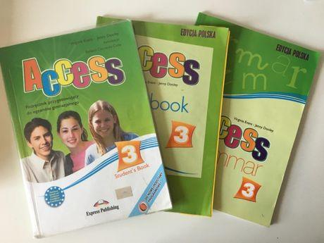 Acces 3 - podręcznik do jęz. angielskiego + Workbook, Grammar + gratis