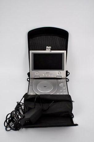 Leitor de DVD portátil com cabos para corrente