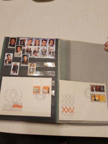 Klaser ze znaczkami 99%bez pieczątek seria ponad 500szt