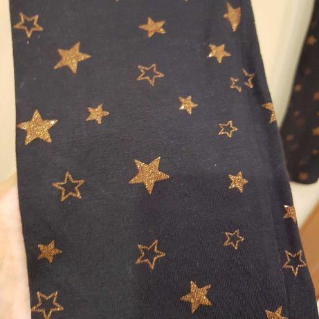 Spodnie leginsy w gwiazdki na 10 lat