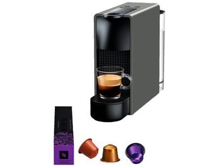Máquina de café Nespresso Essenza Mini Cinza