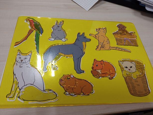 Szablon do rysowania zwierząt wiejskie i domowe