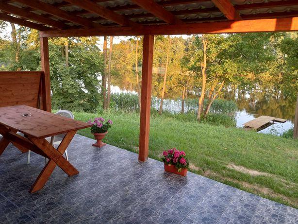 Nowy domek nad jeziorem, z własnym pomostem. Lasy, ryby, grzyby