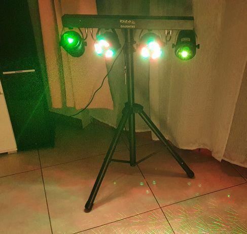 Oświetlenie dyskotekowe lasery Ibiza DjlLight65 impreza wynajem