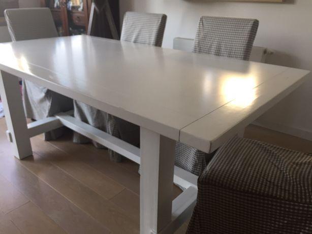 Stół drewniany biały 90x190