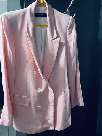 Zara marynarka zakiet rozowa xs s jak nowa roz kurtka bluza