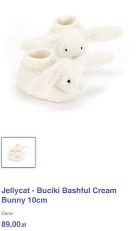 Buciki, niechodki Jellycat - Buciki Bashful Cream Bunny 10cm