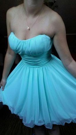 mietowa sukienka S