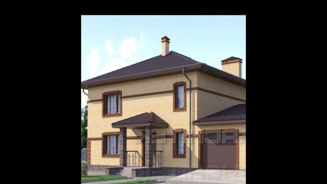 Продам проект двухэтажного дома 131 кв.м с навесом под авто