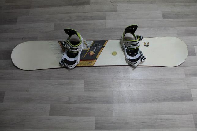 Deska Snowboard RIDE CONTROL 155 cm + Wiązania RAIDEN