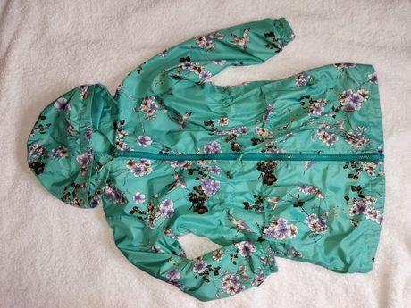 Куртка ветровка,подкладка флис,рост 104-110