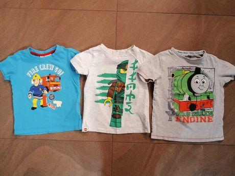 3x t-shirt koszulka dla chłopca r. 110 chłopięce koszulki Ninjago Sam