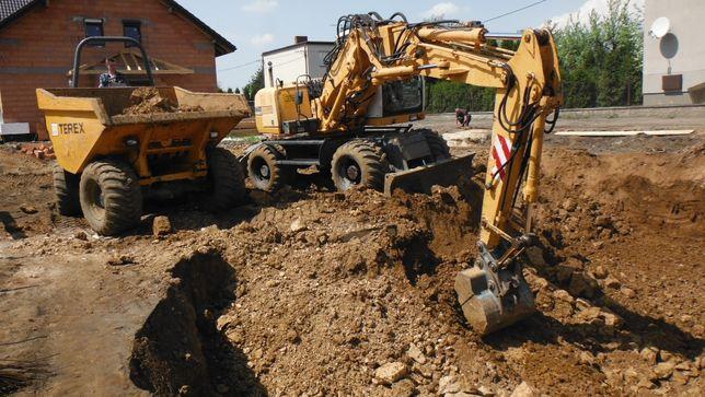 Wozidło budowlane 6-9 ton wynajem z operatorem lub bez