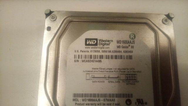 Жёсткий диск WD 160 Gb, размер 3.5
