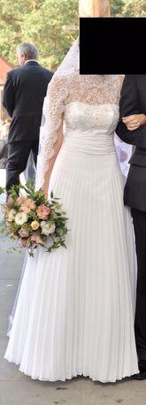 Suknia ślubna z welonem hiszpańskim gratis rozm. 36