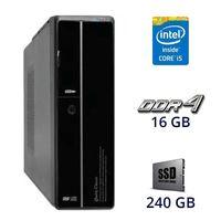 Системный блок / Intel Core i5-7400 (4 ядра) / 16 GB DDR4 / 240 GB SSD