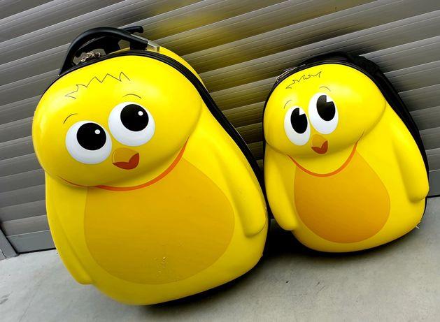 Super zestaw walizka i plecak podróżny Kurczaczek